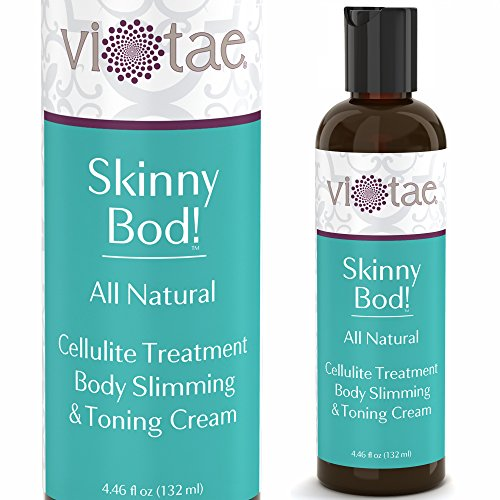 100% Natural Cellulite Treatment, Body Slimming & Toning Cream - 'Skinny Bod!' by Vi-Tae® - For a Slimmer, Firmer Silhouette - 4.46oz