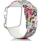 Bemorcabo Replacement Bands for Apple Watch, Smart Watch Bracelet Strap, Silicone Sport Style Wristband, for iWatch...
