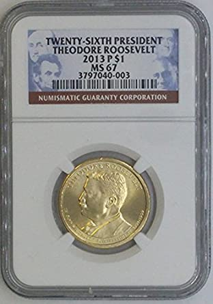 Coin from Mint Set 2013 D Theodore Roosevelt Presidential Dollar ~ Pos B ~ U.S