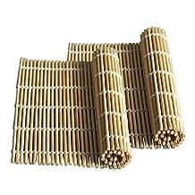 JapanBargain Brand - Sushi Rolling Kit - 2x rolling mats, 1x rice paddle, 1x spreader - natural (2pc Mats)