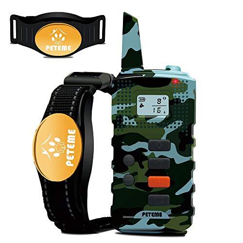 Peteme Dog Training Shock Collar Remote Dog Shock Collar with 3 Training Modes,Shock,Vibration,Beep,100% Waterproof,1200…