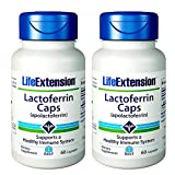 Life Extension Lactoferrin (apolactoferrin) 300 Mgs, 60 capsules (60 (Pack of 2))