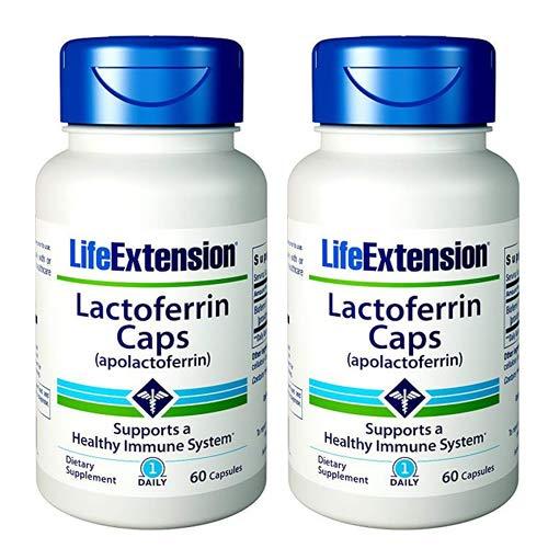Life Extension Lactoferrin (apolactoferrin) 300 Mgs, 60 capsules (60 (Pack of 2))