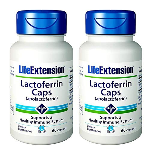 Life Extension Lactoferrin (apolactoferrin) 300 Mgs, 60 capsules (60 (Pack of - 300 Extension