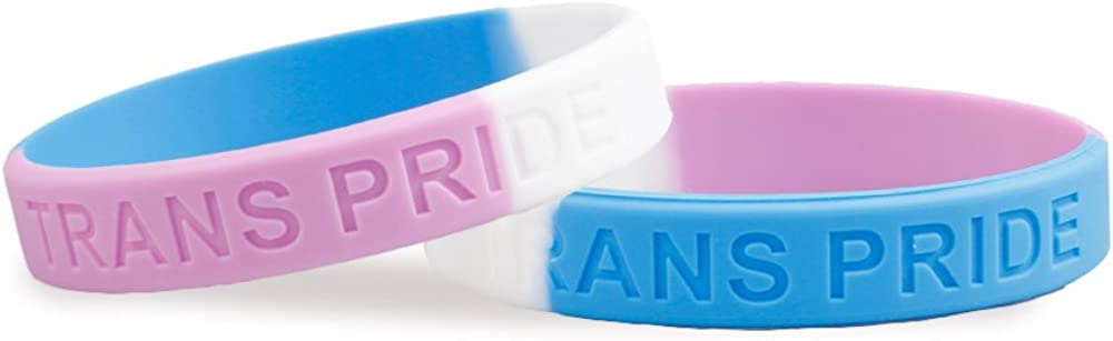 Fundraising For A Cause LGBTQ - Transgender Pride Silicone Bracelet (Adult)