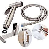 CIENCIA Hand Held Bidet Sprayer Premium Stainless Steel Sprayer Shattaf - Complete Bidet Set for Toilet, Hand Bidet Sprayer for Toilet WS024S