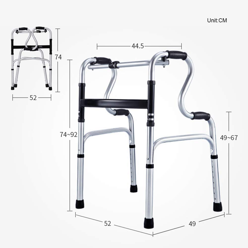 Zxwzzz Andadores Caminador Plegable Liviano, Multifunción ...