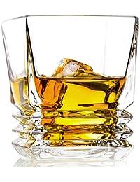 [Patrocinado] Vasos de whisky, Paquete de regalo juego de 2-premium de vidrio sin plomo, Old Fashioned vasos de Whisky 10-Ounce...