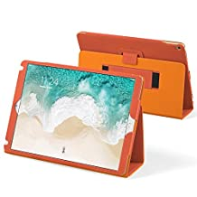 iPad Pro 12.9 2017 and 2015 Case, Snugg Leather iPad Pro 12.9 2017 and 2015 Case Cover [Lifetime Guarantee] Protective Flip Stand Orange for Apple iPad Pro 12.9 2017 and 2015