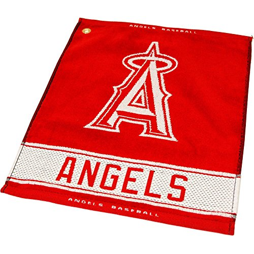 (Team Golf MLB Los Angeles Angels Jacquard Woven Golf Towel, 16