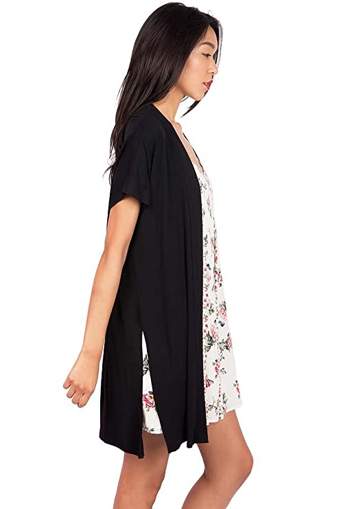 70fd1b6133ba5 Emma's Closet Women's Perfect Layering Short Sleeve Cardigan (S, Black):  Amazon.ca: Luggage & Bags