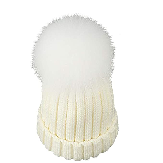 Boomly Autunno e Inverno Carino Calda Cappello con Pompon Cappelli in  Lavorato a Maglia Berretti da fa25524ba714