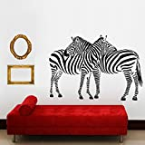 zebra print wall decals - Aiwall 9504 Huge Vinyl Wall Sticker Two Zebras Wall Decals Animal Print Home Murals Decor