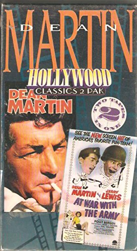 Dean Martin Hollywood Classics 2 Pak (Tape 1: At War With The Army, Tape 2: Hollywood's Leading Men) 1994 [VHS]