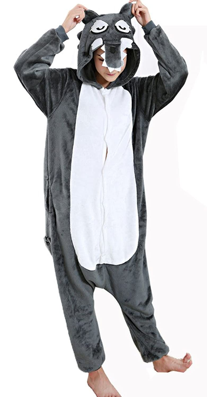 Amazon.com: Cliont Animal Big Wolf Pyjamas Kigurumi Sleepwear Nightclothes Costume Anime Cosplay Christmas Onesie: Clothing