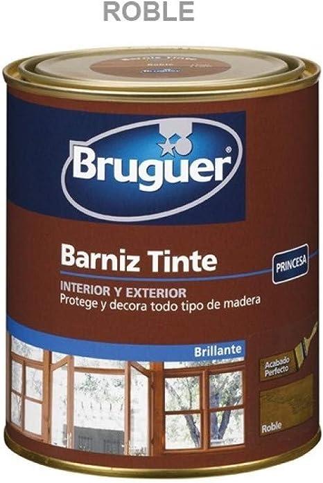 Bruguer Barniz Tinte BTE.BRUGUER Roble 750 ML, Negro: Amazon ...