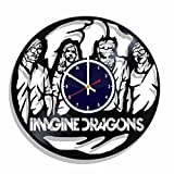 Imagine Dragons rock band Wall clock made from real vinyl record, Imagine Dragons wall poster, best gift for Imagine Dragons fans, Imagine Dragons decal