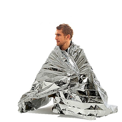 DaLo Emergency Mylar Thermal Blankets (8 Pack) Perfect for Outdoors, Hiking, Survival, Marathons or First Aid by DaLo