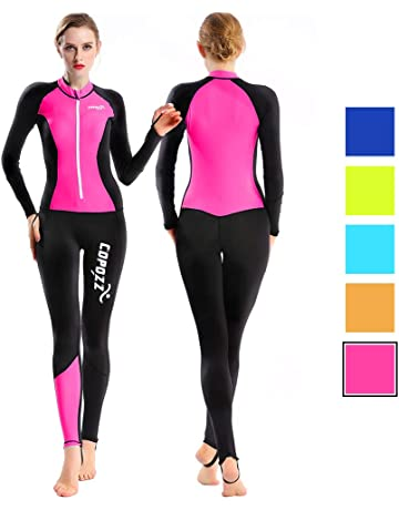 f166275fa8f COPOZZ Rash Guard, Full Body Thin Wetsuit, Lycra UV Protection Long Sleeves  Dive Skin