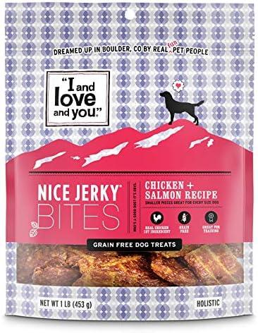 I and love and you Nice Jerky Bites, Grain Free Dog Treats