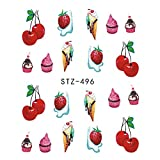 lady bug grinder - 1 Sheet Fruit Lollipop Ladybug Nail Art Stickers Water Transfer Nail Tips Decals Charm Manicure Decoration