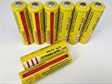 ON THE WAYLi-ion 18650 8Pcs YELLOW 3.7V 5000mAh LED Flashlight Protected Li-ion Rechargeable Battery