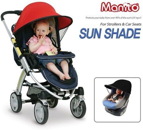 Negro con Malla Transpirable Beb/é Coche Carritos de viaje Paseo Sombrilla Parasol Protecci/ón UV 50 Toldo Protector Solar Universal para Cochecito de Beb/é