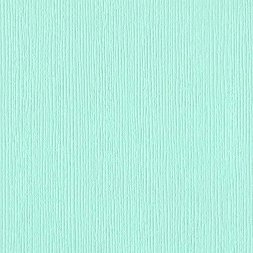 Bazzill Turquoise Mist Textured 12x12 Cardstock | 80 lb Light Blue-Green Scrapbook Paper | Premium Card Making and Paper Crafting Supplies | 25 Sheets per Pack