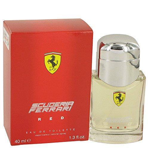 Ferrari Scuderia Racing Red Cologne By Ferrari 1.3 oz Eau De Toilette Spray For Men - 100% - White Ferrari Scuderia