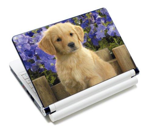 Luxburg® Design Aufkleber Schutzfolie Skin Sticker für Notebook Laptop 10 / 12 / 13 / 14 / 15 Zoll, Motiv: Süßer Welpe