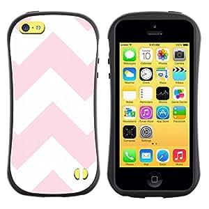Hypernova Slim Fit Dual Barniz Protector Caso Case Funda Para Apple iPhone 5C [Blanc Motif lignes roses]