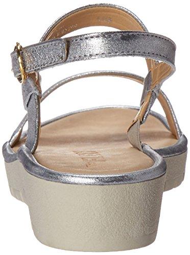 D'argento Flexx Piatto Donne Sandalo Tris Abbronzatura Delle x8wUOaRTq