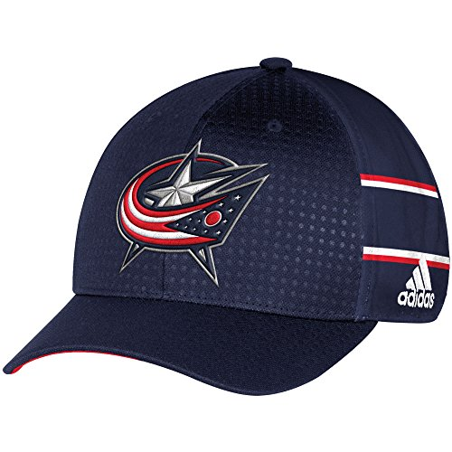 adidas NHL Columbus Blue Jackets Men's Pro Collection Draft Cap, Small/Medium, Navy
