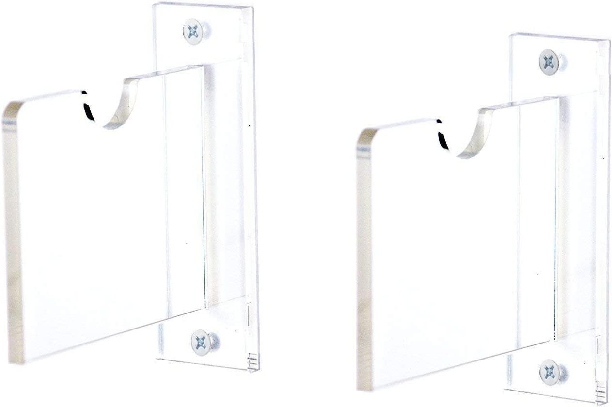 A023-H-SS Better Display Cases Deluxe Clear Acrylic Hockey Stick Wall Mount Bracket