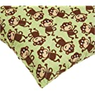 Carters Quilted Woven Playard Fitted Sheet, Monkey (Discontinued by Manufacturer)
