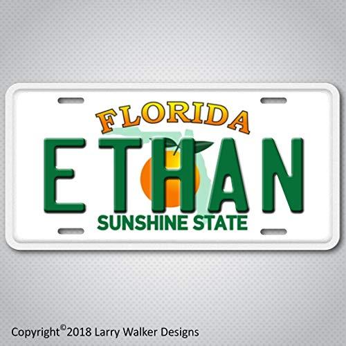 Ethan Florida plate Aluminum License Plate Tag ()