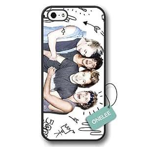 fashion case- Personalized Popular Band 6 plus Seconds Of Summer 6 plusos Logo Black Plastic iphone 6 plus Case & Cover - Black 1