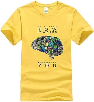 Camiseta Casual de Verano para Hombre, Manga Corta de Algodón, Cuello Redondo, Top con Estampado de Moda, Camiseta Deportiva Unisex, MTX Ltd, Amarillo, s: Amazon.es: Bricolaje y herramientas