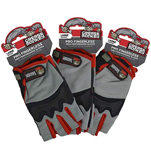 (Grease Monkey Pro Fingerless all purpose work gloves and workout gloves )
