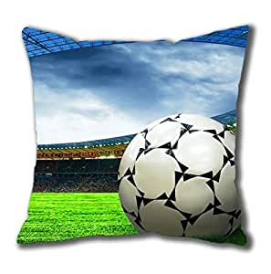 Ball Soccer On the Field Square Pillow Case Cotton You Perfect Idea
