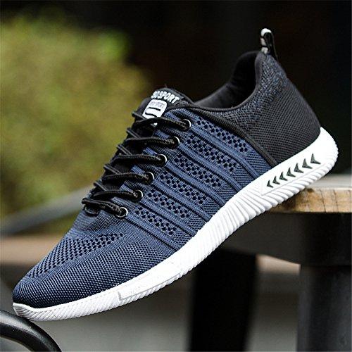 Juleya Chaussures de Sport Pour Hommes Chaussures de Course Sports Fitness Gym Athlétique Baskets Sneakers Bleu LG6oTZ2V