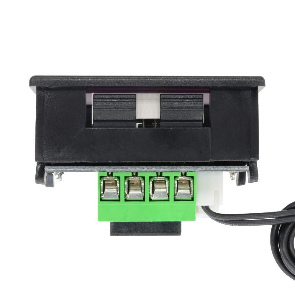 Diymore W1209 - Mini termostato digital LED con control de temperatura y temperatura de refrigeración, interruptor de control de temperatura, ...