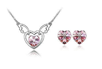 Amazon forget me not pendant necklace and earring set by greg forget me not pendant necklace and earring set by greg michaels crystals genuine swarovski aloadofball Gallery