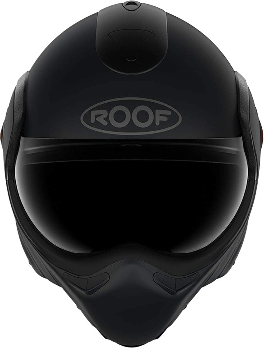 L 60 Roof Klapphelm NEW BOXXER schwarz matt mit klarem Antifog-Visier und ECE22.05
