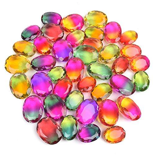 Brazilian 500 Ct./ 6 Pcs Oval Cut Multi Color Alexandrite Loose Gemstone Lot