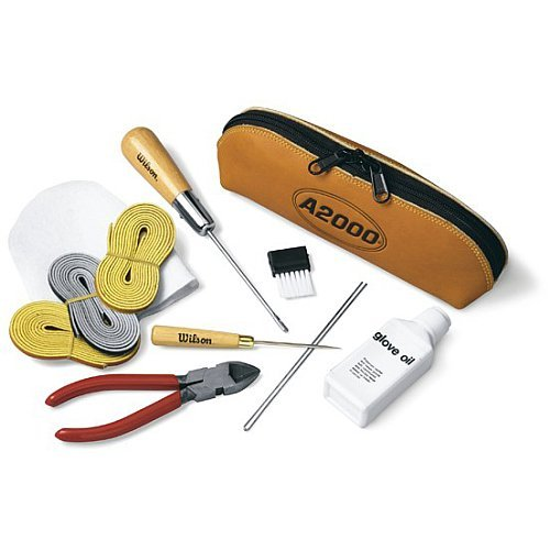 Wilson A2000 Baseball Glove Care Kit (Best Leather For Baseball Gloves)