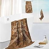 SCOCICI1588 bath towel set designSculpture of an Angel with Dark Background Catholic lief Century Old ArtworkThick, Plush, Absorbent 19.7''x19.7''-13.8''x27.6''-31.5''x63''