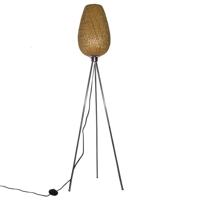 HUACANG Lámpara de pie clásica del trípode del LED de Las ...