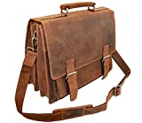 Visconti XL Business Briefcase Distressed Leather - Hercules - 16055 (Oil Tan)