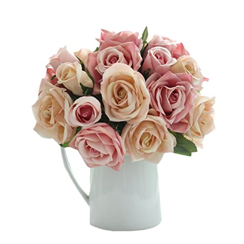 6 Cabeas DE 9 cm Bonito Encantador Plstico Artificial Rose Flores Noiva Bouquet Casamento Casa Decorao DIY Scrapbooking Fontes do Evento